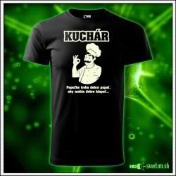 vtipné tričko so svietiacou potlačou Kuchár. Humorný darček pre kuchára.