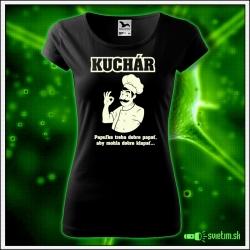 dámske vtipné tričko so svietiacou potlačou pre kuchárku, vtipný darček kuchár