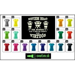 farebné dámske vtipné tričká svietiace Bongo virtuóz, zábavný darček pre ženy