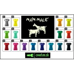 farebné dámske vtipné svietiace tričká s vtipnou potlačou Mám malé kozy