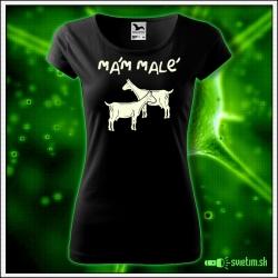dámske vtipné tričko so svietiacou potlačou Mám malé kozy, humorný darček pre ženy