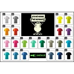 Farebné detské vtipné svietiace tričká Kto nič nerobí, nič nepokazí, srandovné detské tričká