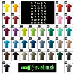 farebné vtipné svietiace cestovateľské tričká pre turistov Icon speak, srandovné darčeky k sviatku či na narodeniny
