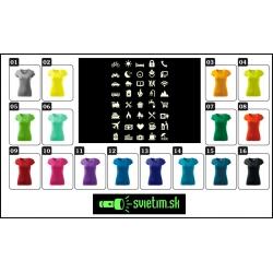 farebné dámske vtipné svietiace tričká s vtipnou potlačou Icon speak pre turistky cestovateľky