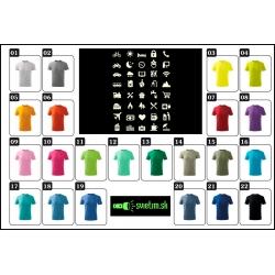 Farebné detské vtipné svietiace turistické tričká Icon speak pre cestovateľov, srandovné detské tričká