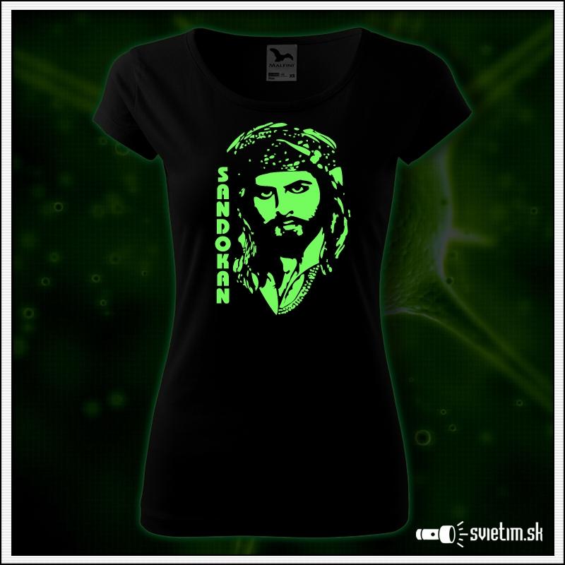 damske retro svietiace tričko Sandokan nostalgický darček so Sandokanom