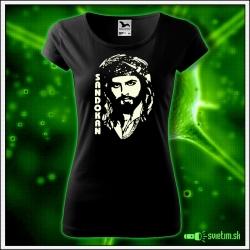 retro dámske tričko so svietiacou potlačou Sandokan retro darček Kabir Bedi pre ženu