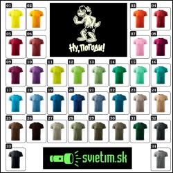 pánske farebné svietiace retro tričká s vlkom a zajacom 3, retro darček no počkaj 3