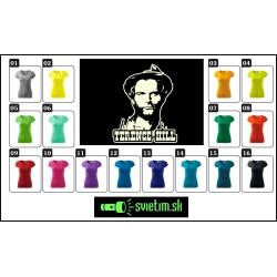 farebné dámske retro tričká Terence Hill so svietiacou fosforovou potlačou, nostalgický darček špagety western