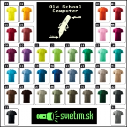 pánske farebné svietiace retro tričká so Old School Computer, retro darček pre manžela