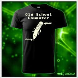 svietiace tričko Old School Computer , nostalgický darček pre mužov, svietiace retro tričká a darčeky