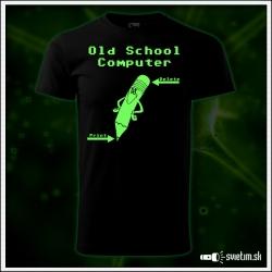 Detské retro tričko Old School Computer, nostalgický darček  svietiace retro darčeky