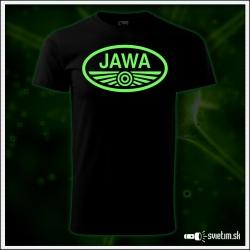 pánske retro svietiace tričko JAWA nostalgický retro darček motorky