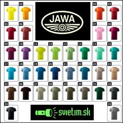 farebné pánske tričká JAWA s retro svietiacou potlačou nostalgický darček pre motorkára