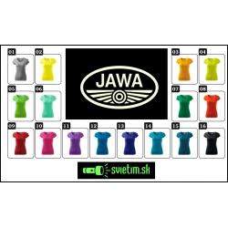 Farebné dámske tričká JAWA s fosforovou svietiacou potlačou, svietiace tričká JAWA