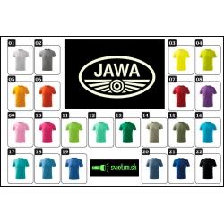 farebné detské tričká s potlačou JAWA retro moto  darček pre deti
