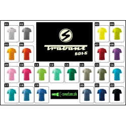 Detské farebné retro tričká s Trabantom 601s retro darček pre deti svietiace tričká