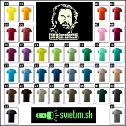 pánske farebné svietiace retro tričká s Terence Hillom, retro darček Bud Spencer spaghetti western