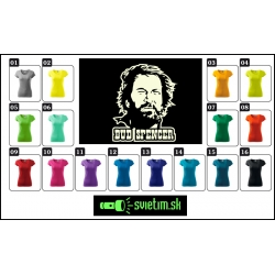 farebné dámske retro tričká bud Spencer so svietiacou fosforovou potlačou, nostalgický darček špagety western