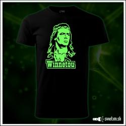 Pánske retro tričko Winnetou, svietiace tričká Karl May