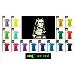 Dámske farebné svietiace tričká Winnetou, darček pre ženy tričká so svietiacou potlačou