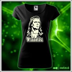 Dámske svietiace retro tričko Winnetou nostalgický svietiaci darček pre ženy
