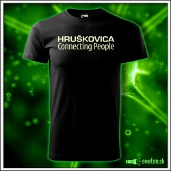 Svietiace unisex tričko Hruškovica, čierne vtipné alkoholové tričko
