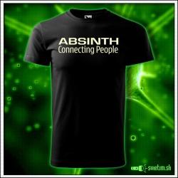 Svietiace unisex tričko Absinth, čierne vtipné alkoholové tričko
