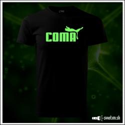 Originálne čierne svietiace tričko Coma