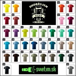 unisex farebné svietiace alkoholové tričká Dodržujem pivný režim, vtipné tričká s potlačou