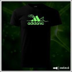 Svietiace detské tričko Adidanic, čierne vtipné tričko