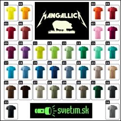 unisex farebné svietiace tričká Mangallica, vtipné tričká s potlačou