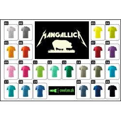 detské farebné svietiace tričká Mangallica, vtipné tričká s potlačou