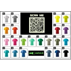 Svietiace detské farebné vtipné tričká  QR code humorné darčeky