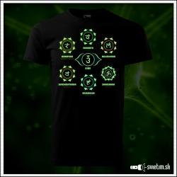 Čakry čierne pánske tričko s čakrami, sedem čakier