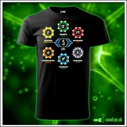Pánske svietiace tričko Čakry, 7 čakier