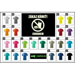 vtipné farebné tričká pre deti, detské svietiace tričko zákaz kŕmiť.
