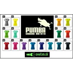 dámske farebné svietiace tričko pumba hakuna matata, vtipné tričká s potlačou