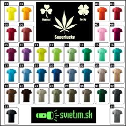 pánske farebné vtipné tričká Superlucky cannabis svietiace tričko marihuana