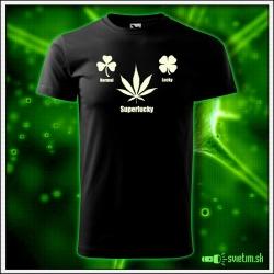 pánske vtipné tričko Superlucky marihuana humorné darčeky cannabis