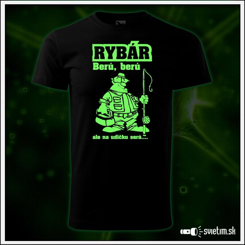 rybárske vtipné svietiace tričko darček pre rybára
