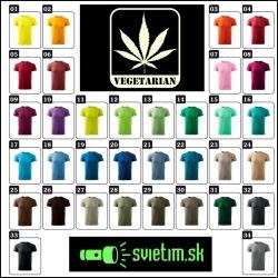 pánske farebné vtipné tričká Vegetarian cannabis svietiace tričko marihuana