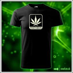 pánske vtipné tričko Vegetarian marihuana humorné darčeky cannabis