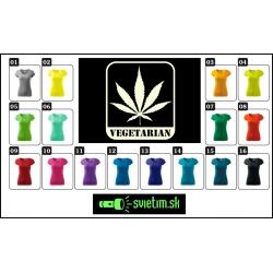 vtipné farebné tričká pre ženy mariška, Vegetarian svietiace tričká marihuana