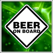 Vtipný svietiaci motív pivné tričko beer on board humorný pivný darček