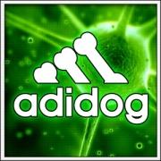 Vtipné svietiace tričko Adidog darčeky pre milovníkov psov a psíčkarov