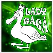 Vtipné svietiace tričko Lady Gágá humorný darček na narodeniny