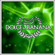 Humorné vtipné svietiace tričko Dolce & Banana s motívom paródie D&G