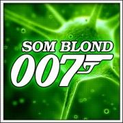 Humorné vtipné svietiace tričko Som Blond 007 s motívom paródie agenta