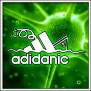 Humorné vtipné svietiace tričko Adidanic s motívom paródie Adidas